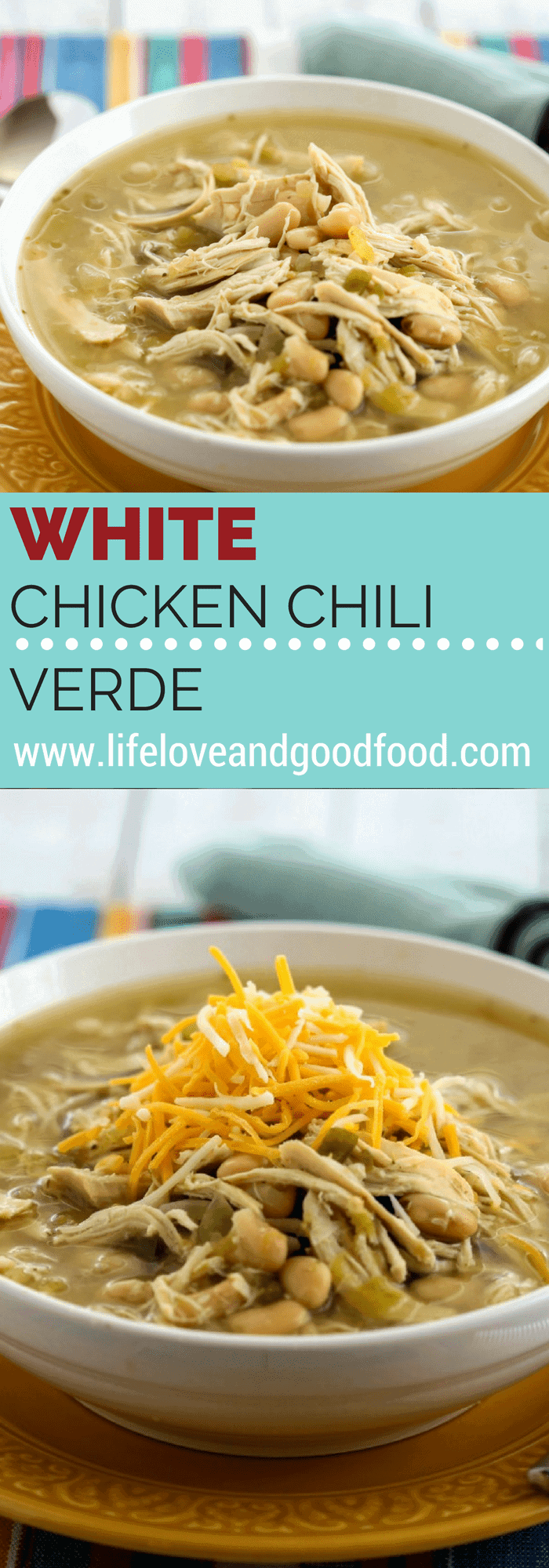 Live life with a little SPICE and this White Chicken Chili Verde! This chili simmers all day in a broth of tangy salsa verde, jalapeños, green chilies, and cumin.