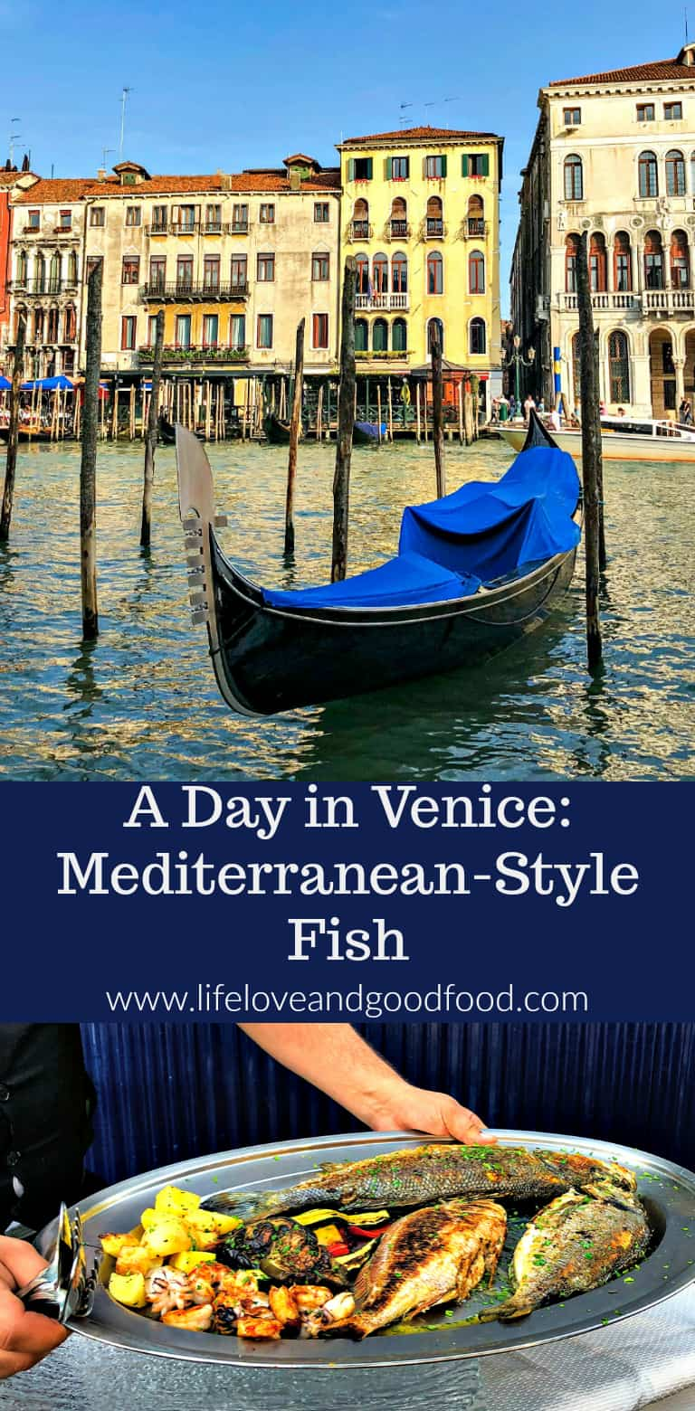 Our dream vacation cruising the Mediterranean ended with a magical day in Venice and this scrumptious dinner of Mediterranean-Style Fish prepared tableside at the Ristorante Riva del Vin along the Grand Canal...ah-maz-ing! #travel #Venice #fish #Mediterranean #cruise #Italy