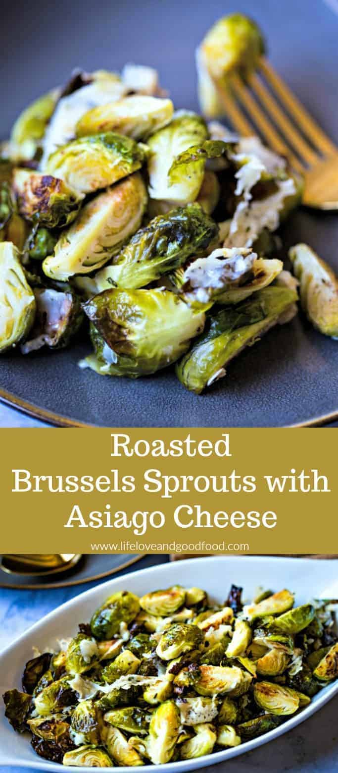 Roasted Brussels Sprouts with Asiago Cheese, a delicious side dish that is both quick and EASY is to prepare! #BrusselsSprouts #roastedvegetables