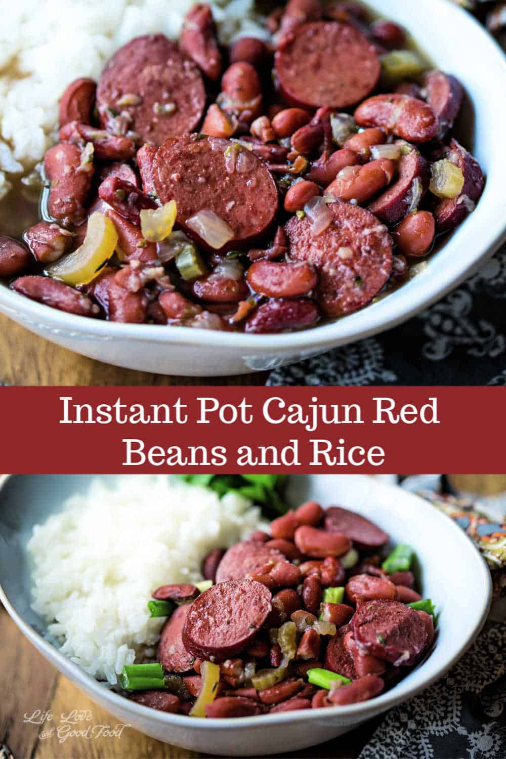 Pressure Cooker Red Beans and Rice is a delicious one-pot pantry meal that's easy on your budget. Flavored with onions, celery, garlic, and Creole spices, this easy recipe can be made with any type of smoked sausage like kielbasa or andouille. You may also omit the sausage all together to make a tasty vegetarian red beans and rice.