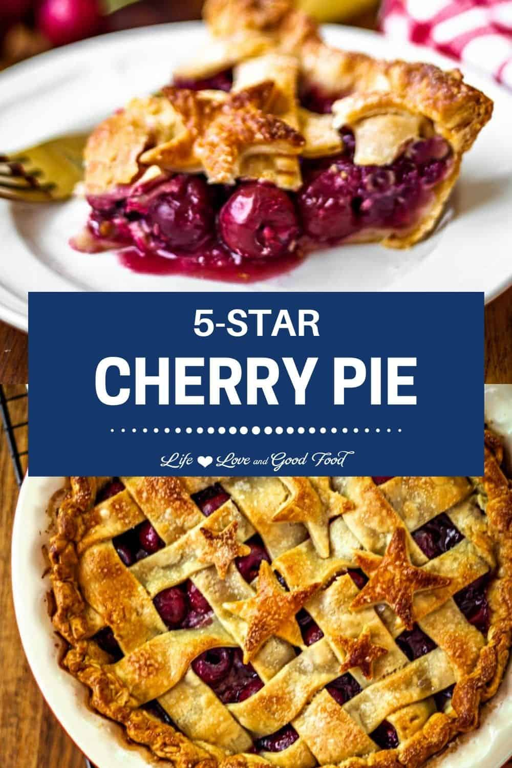 5-Star Cherry Pie with fresh Bing cherries and a hint of citrus flavor has a thick and delicious filling that's perfectly sweetened and irresistible. A classic all-American dessert, this easy homemade cherry pie boasts a secret ingredient that absolutely shoots it over the top. Bake this fresh cherry pie recipe in a double pie crust—refrigerated or homemade—with a lattice top to allow the sweet, bubbly filling to peek through. Serve plain or a la mode with a scoop of vanilla ice cream.