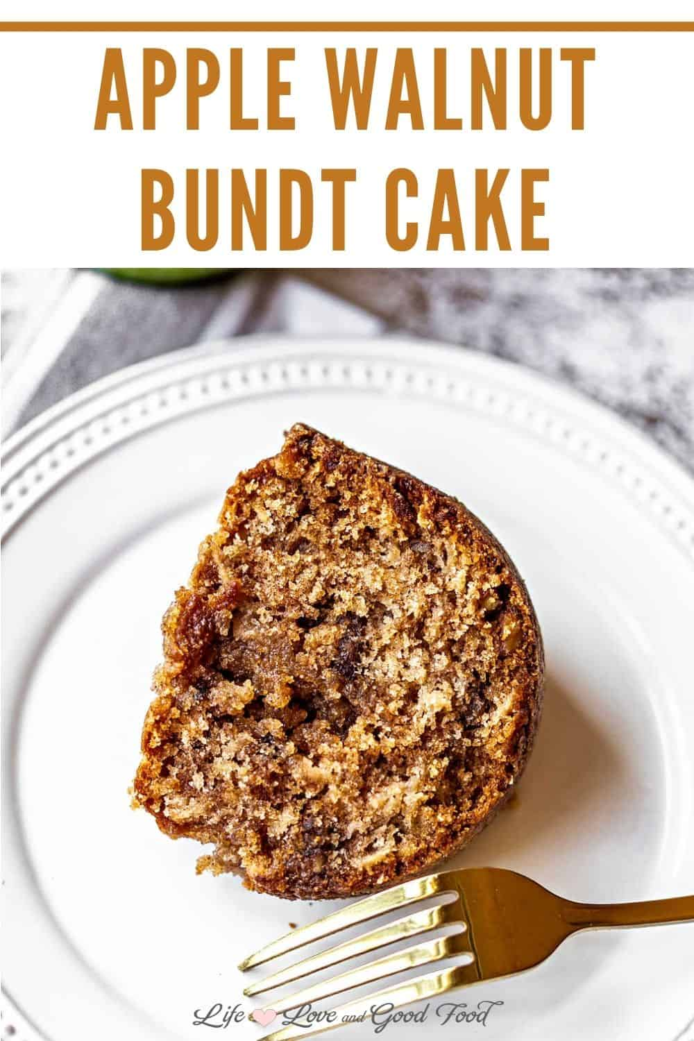 Apple Walnut Bundt Cake is not only the perfect fall dessert, it's downright apple-licious! Studded with tart Granny Smith apples, crunchy walnuts, and cinnamon spice, this Apple Bundt Cake is easy to prepare and stays fresh and super moist for days.
