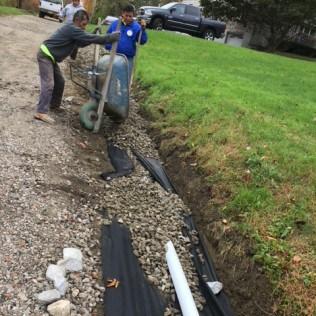 driveway and landscape drainage - asphalt maintenance