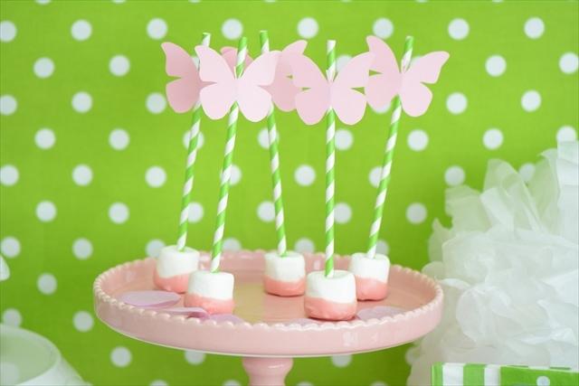 蝶がテーマのお誕生日会 – ピンクバタフライパーティー : Pink Butterfly Party