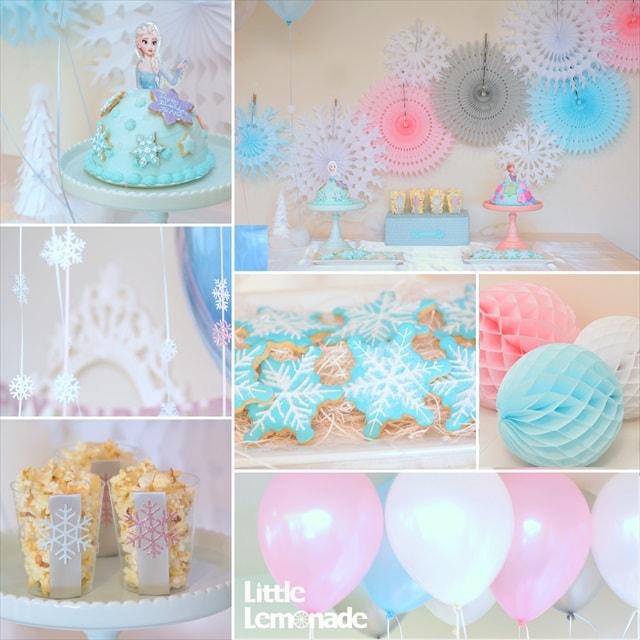 アナと雪の女王テーマのバースデイパーティー : Frozen Themed Birthday Party