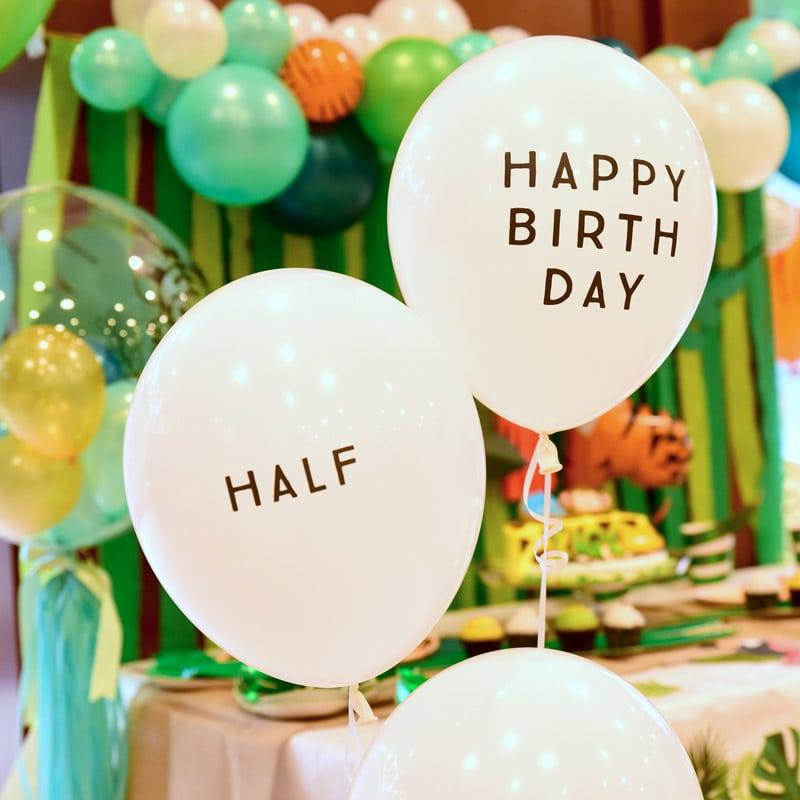 Jungle Half Birthday Party-ジャングルテーマのハーフバースデイパーティー