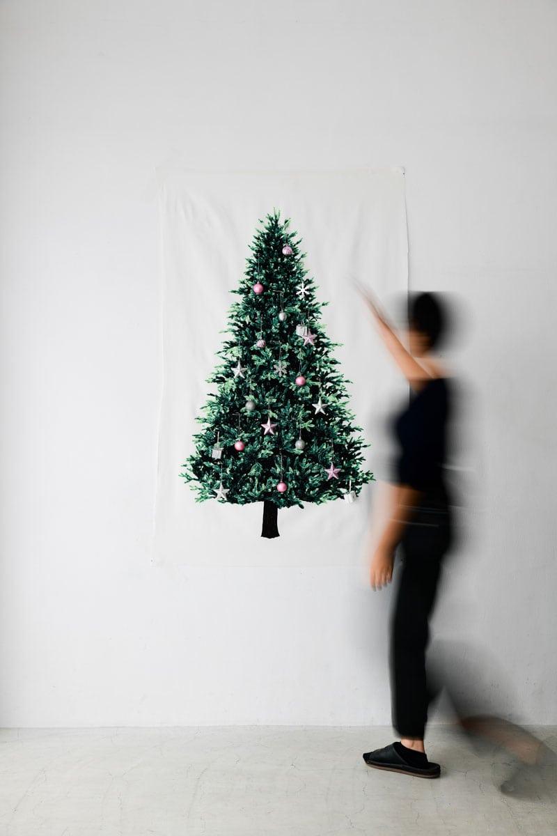 タペストリー型のウォールツリー :  Christmas Tree Tapestry