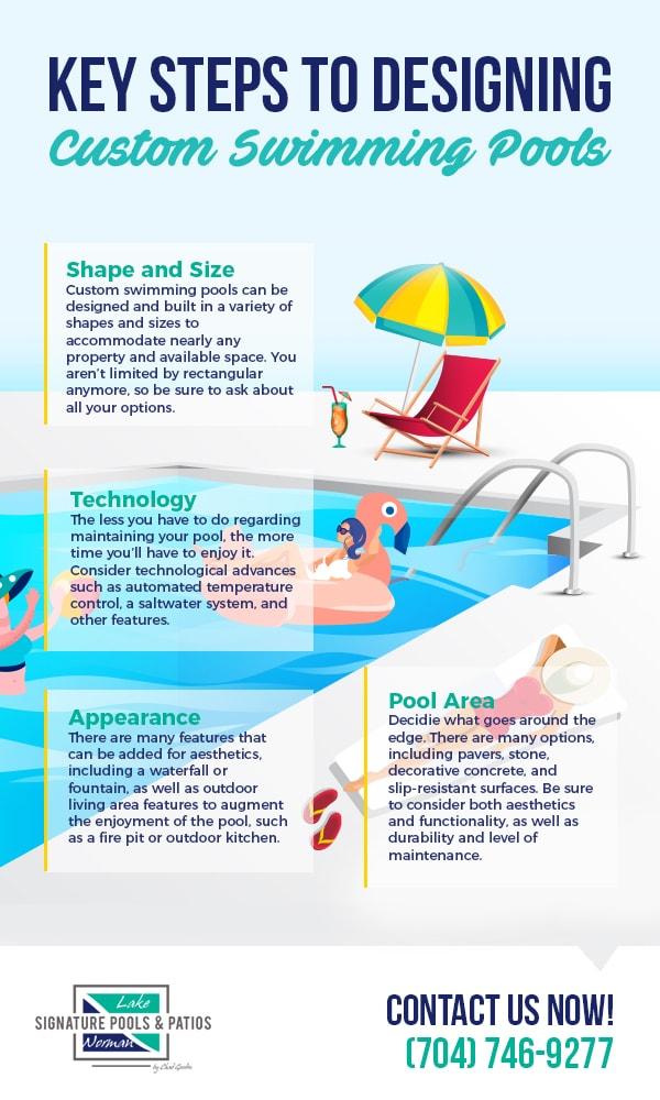 key steps to designing custom swimming pools