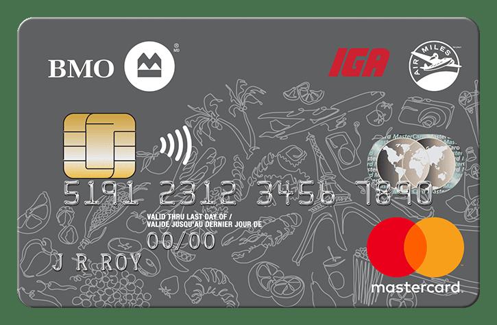 BMO® IGA AIR MILES® MasterCard®