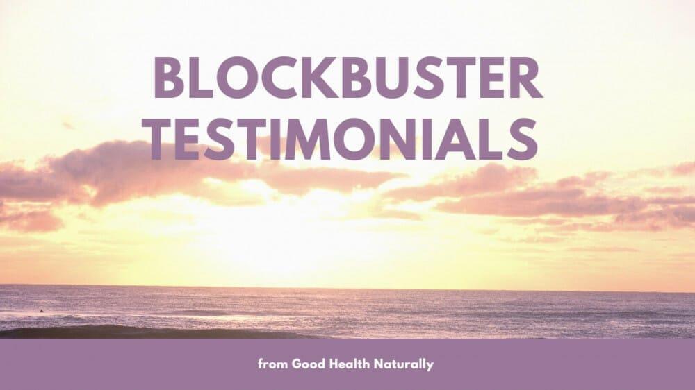 Blockbuster all clear testimonials