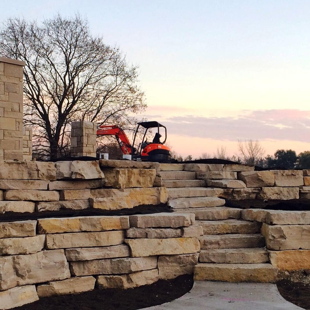 Mack Land LLC - Natural stone retaining wall