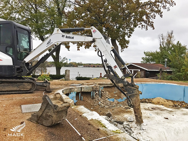 Mack Land LLC - Fox Lake, Illinois Pool Removal