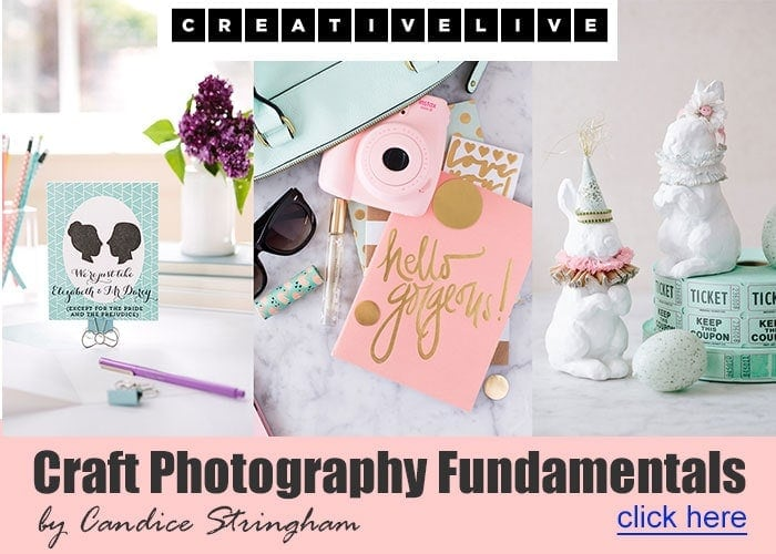 Craft Photography Fundimentals Course by Candice Stringham