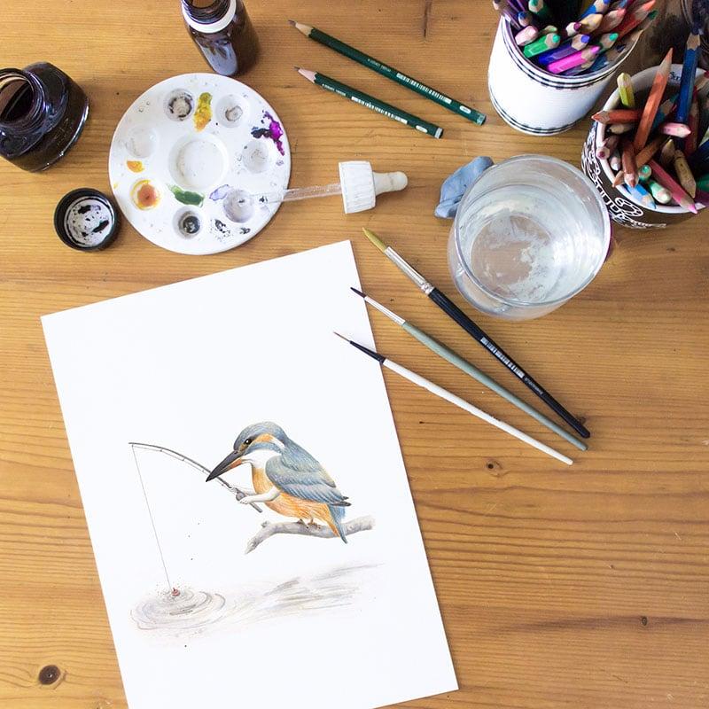 Aves – Inktober 2017