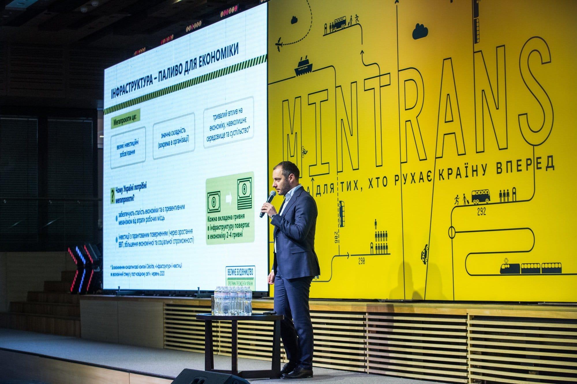Александр Кубраков презентовал ключевые мегапроекты Укравтодора на 2021 год