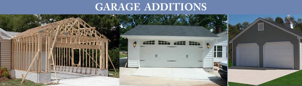 Garage Addition Projects Banner