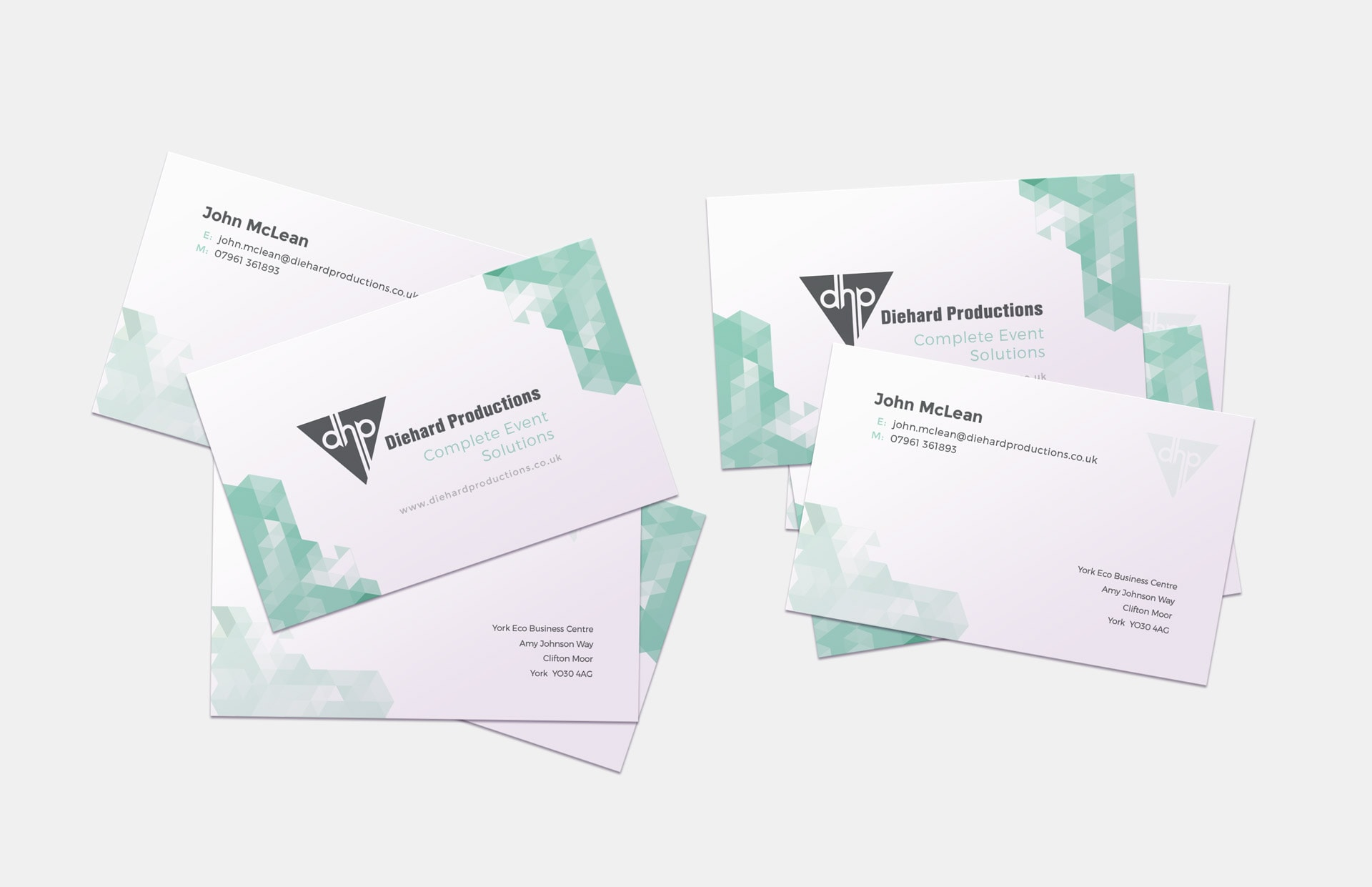 Diehard Productions Business Cards