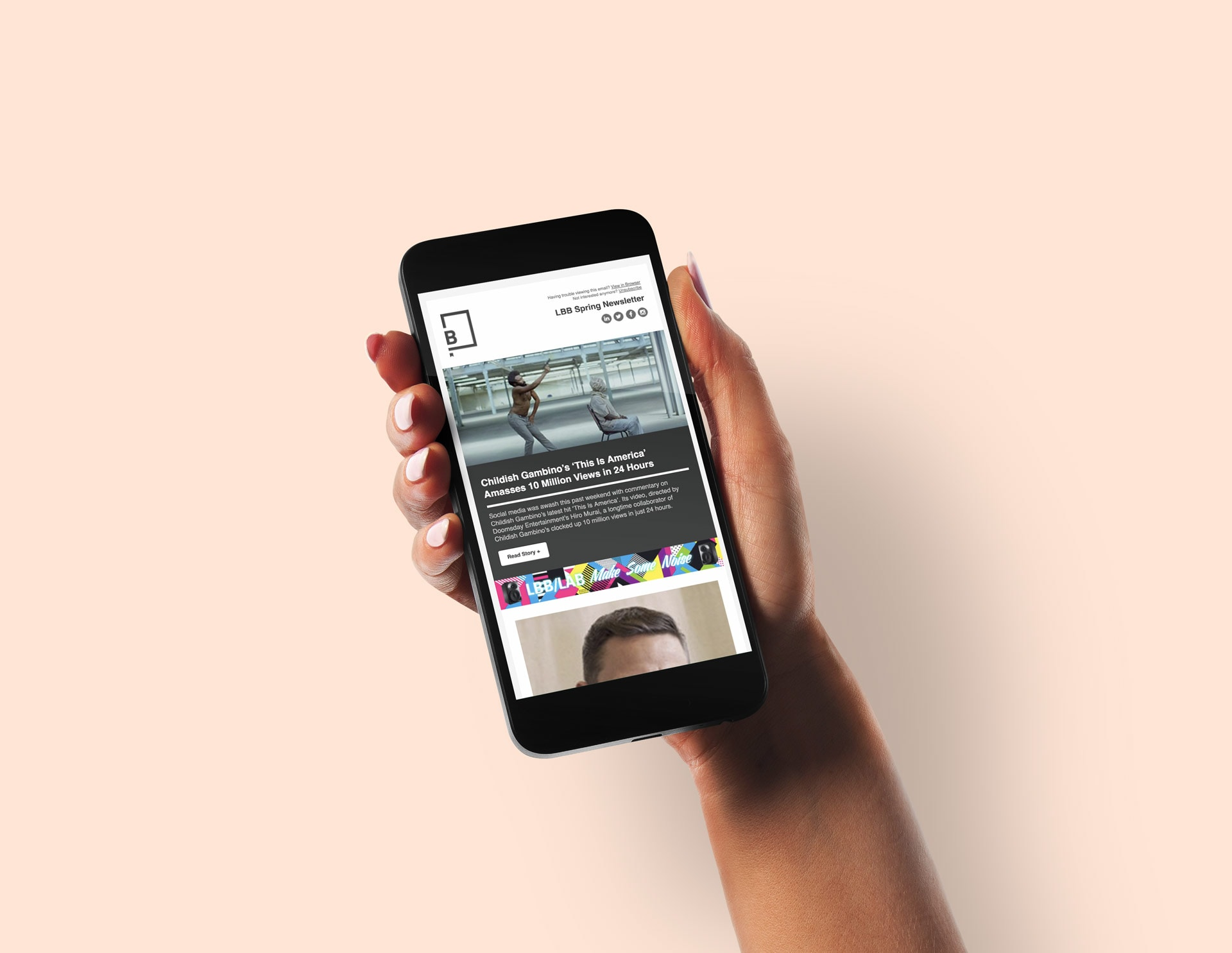 Little Black Book Email Newsletter Mobile