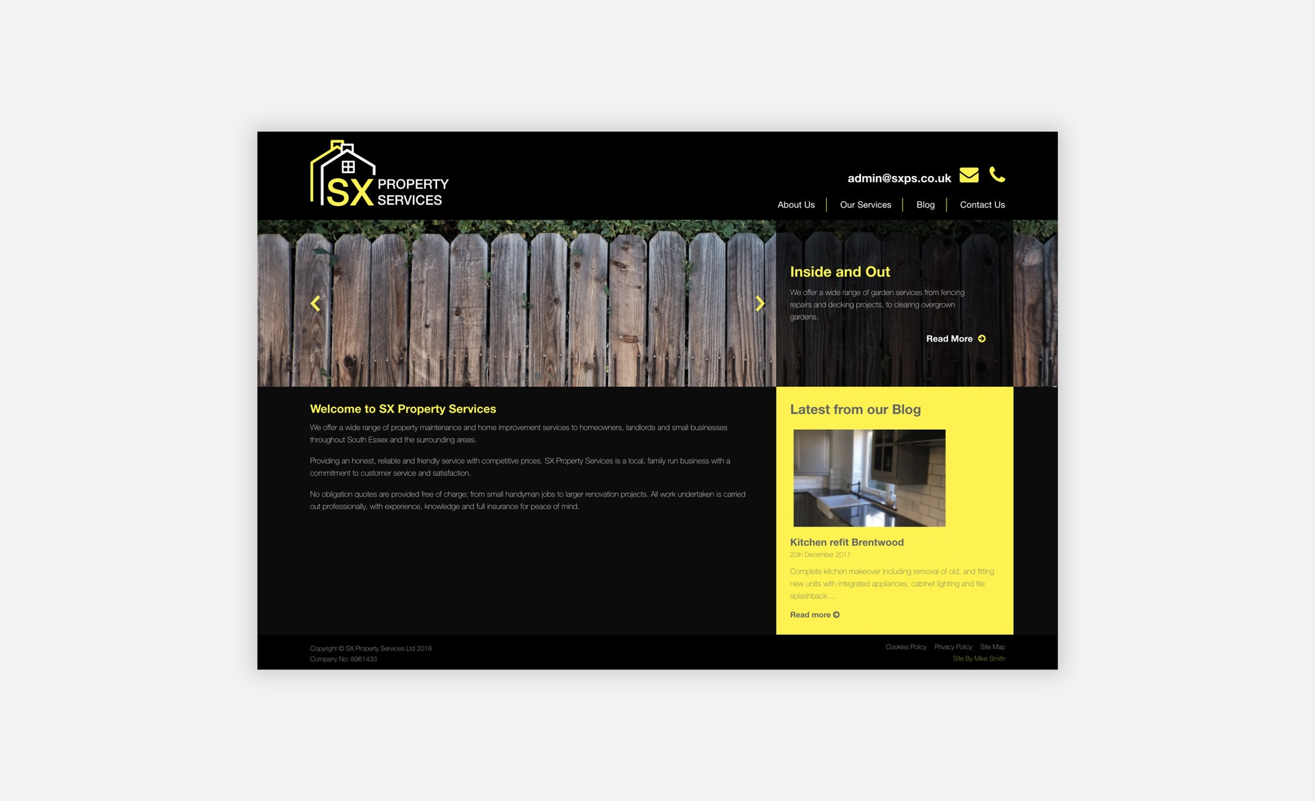 SX Property Services Home Page
