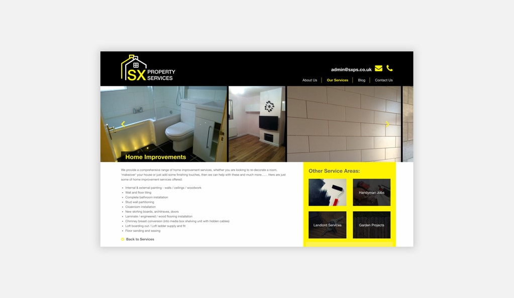 SX Property Services Services Page