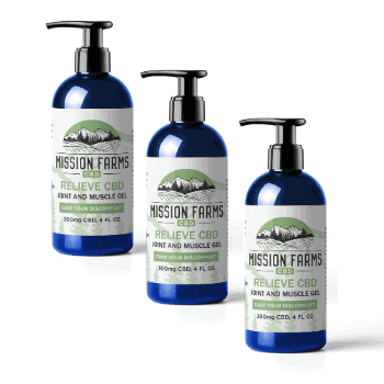 Relieve CBD Joint and Muscle Gel Pump (4 oz. 3-Pack)