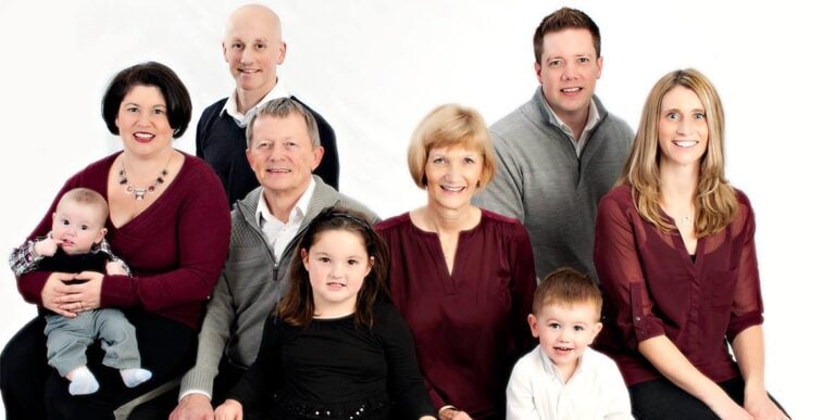 In Studio Family Portrait with Kids