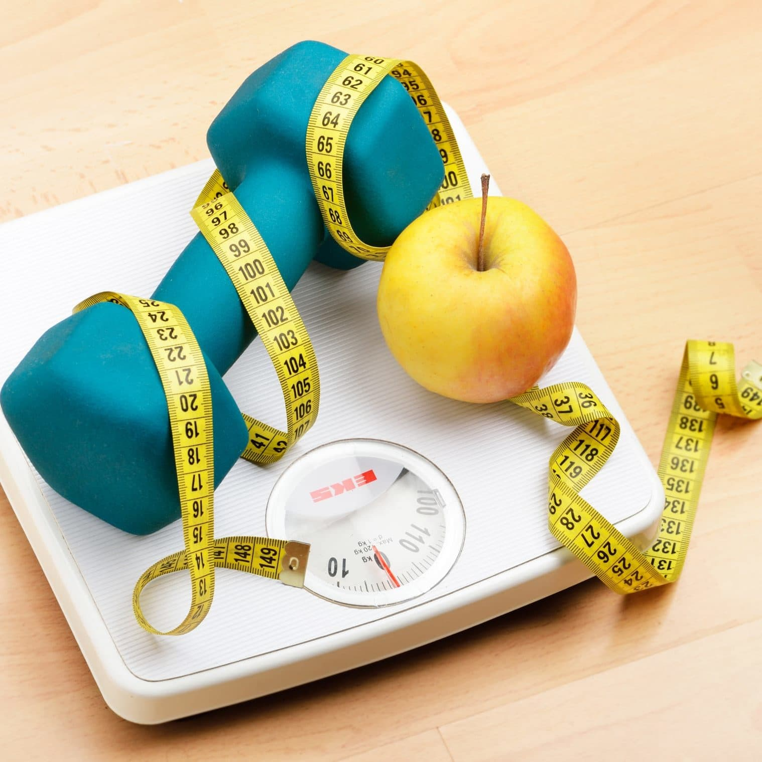 Apple and Weight on a scale