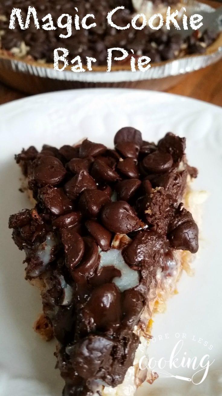 Magic Cookie Bar Pie #SundaySupper