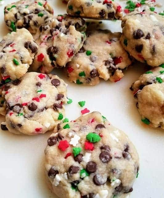 Christmas Chocolate Chip Sprinkles Butter Cookies #ChristmasSweetsWeek