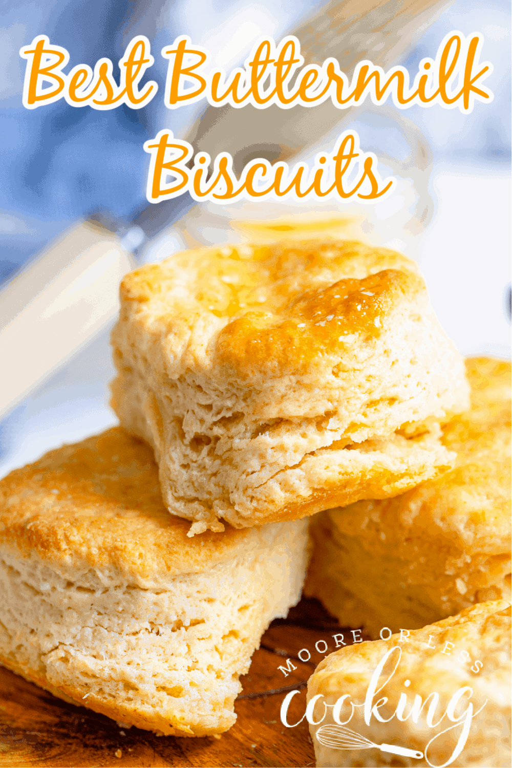 These really are the best buttermilk biscuits. Each biscuit has flaky layers that are so buttery, and fluffy that are melt in your mouth delicious with every bite. via @Mooreorlesscook