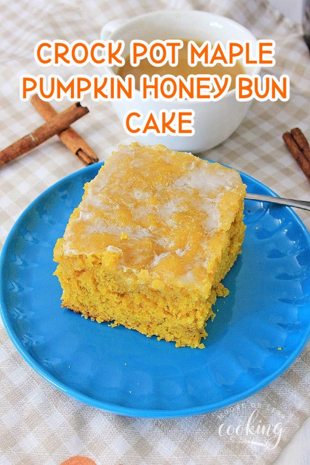 Take the classic sweet honey bun taste and turn it into a fall cake sensation with the flavors of pumpkin and maple. This crowd-pleasing Crock Pot Maple Pumpkin Honey Bun Cake is perfect for breakfast, brunch, snacks, or on your holiday dessert table. via @Mooreorlesscook