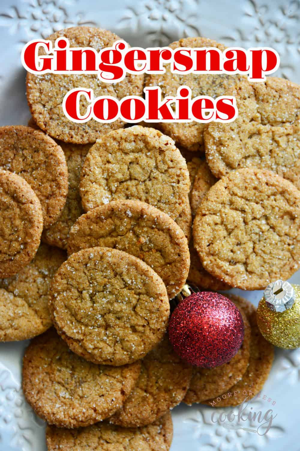 Gingersnap Cookies The rich molasses and bold spices make these easy gingersnap cookies a holiday favorite. The crisp texture and caramelized flavor are a classic that everyone loves! via @Mooreorlesscook