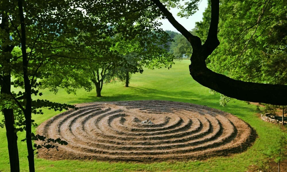 Labyrinth at Mountainside rehab center in Canaan, Connecticut.