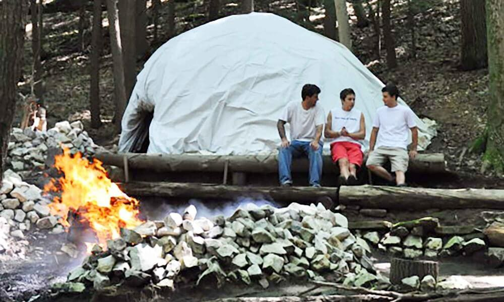Sweat lodge at Mountainside inpatient facility in Connecticut.