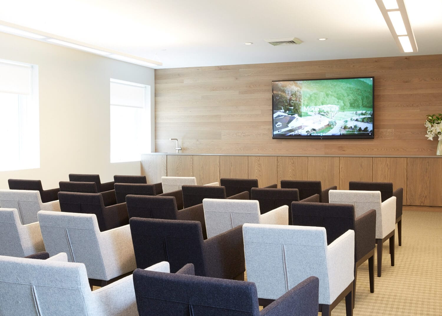 Auditorium and TV Room at Mountainside Addiction Treatment Center, NY NJ, CT.