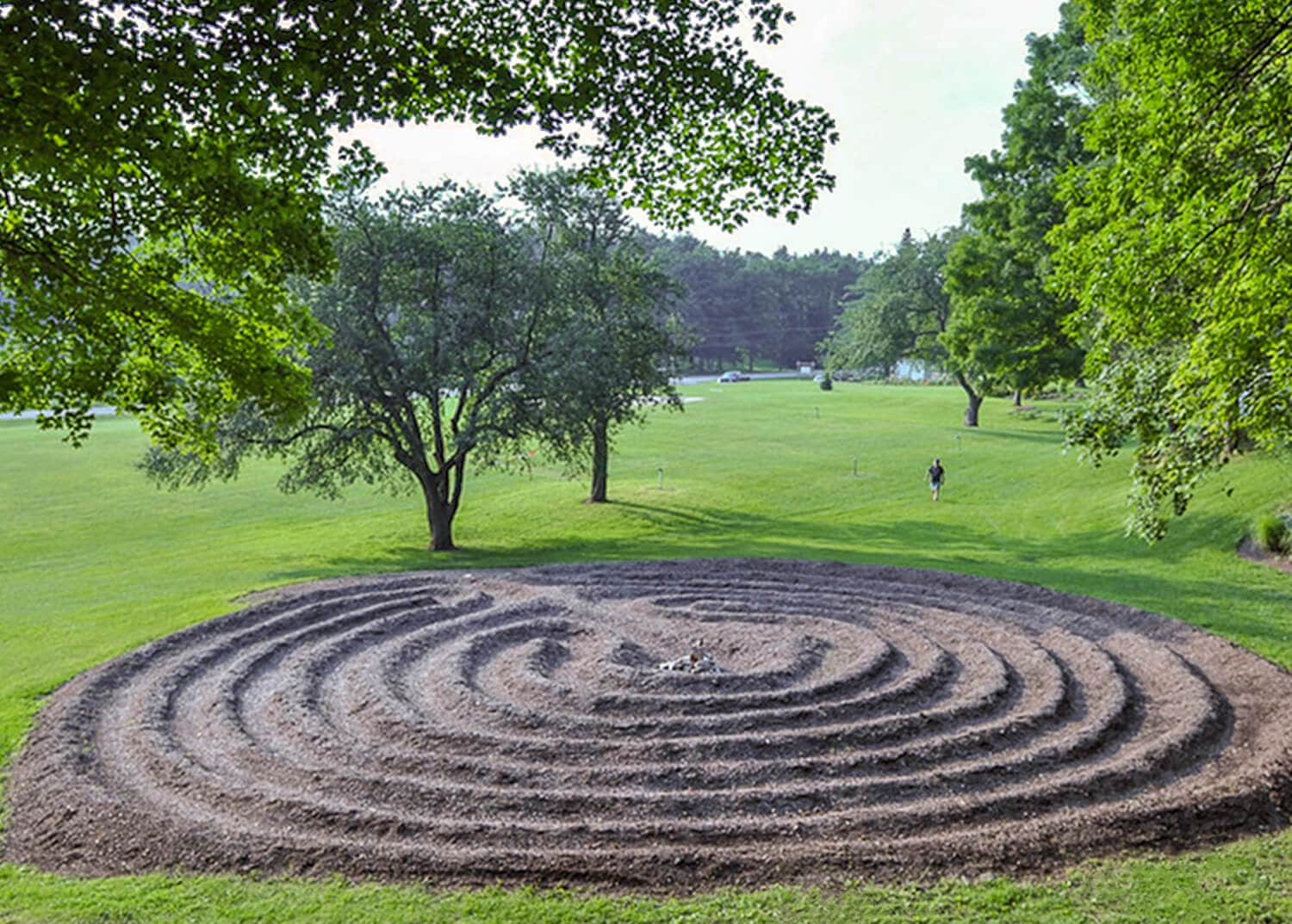 A therapeutic labyrinth on the grounds of the Mountainside Addiction Treatment Center in CT.