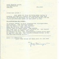 Brief Felsinger an Arleth 25.01.1966