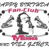 Ty Tender Fanclub Gratulation