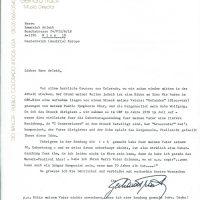 Brief Track an Arleth 22.10.1980