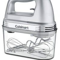 Cuisinart HM-90BCS Power Advantage Plus 9-Speed Handheld Mixer with Storage Case, Brushed Chrome