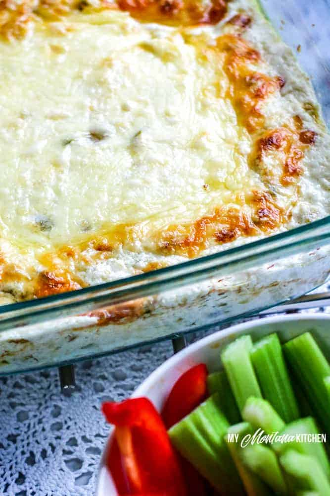 jalapeno popper dip with vegetables