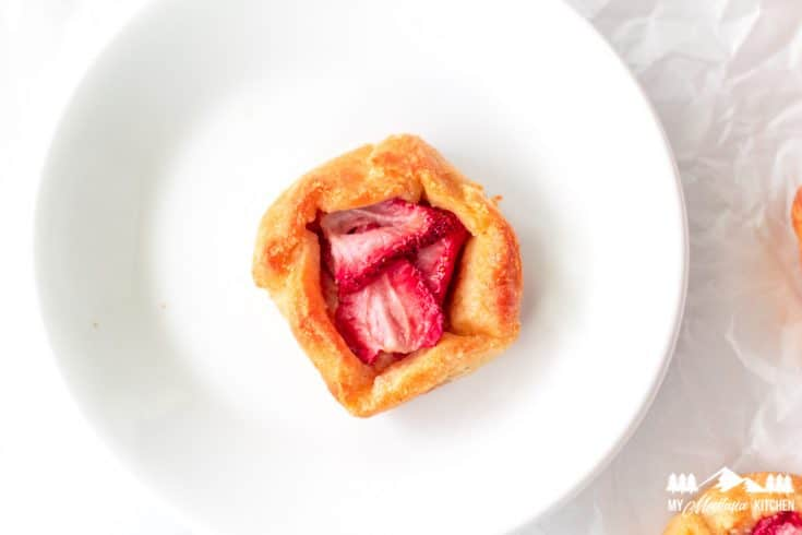 Low-Carb Strawberry Galettes