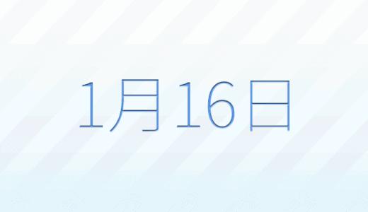 1月16日は何の日?記念日、出来事、誕生日占い、有名人、花言葉などのまとめ雑学