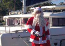See Floating Santa on Christmas Eve