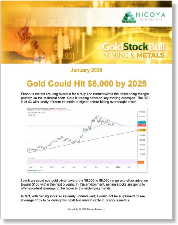 Gold Stock Bull is our original investment newsletter focusing on precious metals and mining stocks.