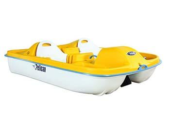 4. Pelican Fiji Pedal Boat, Yellow/White