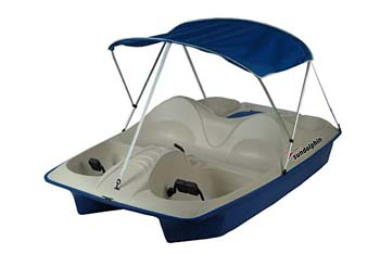 2. Sun Dolphin 5 Seat Pedal Boat with Canopy