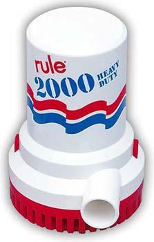 8. Rule Marine Bilge Pump, 2000 Gallon Per Hour, Non-Automatic