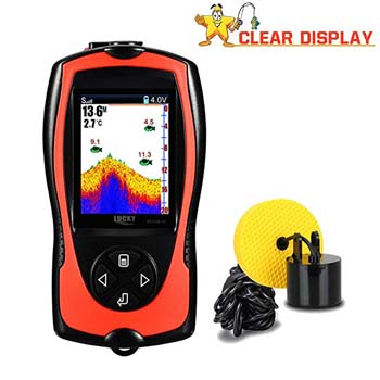 7: Lucky Portable Fish Finder Wired Sonar Sensor Transducer 328 Feet Water Depth Finder