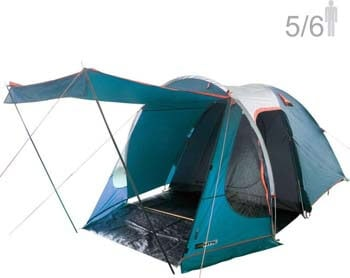 9: NTK Indy GT XL Sleeps up to 6 Person 14.2 by 8.0 FT Outdoor Dome Family Camping Tent